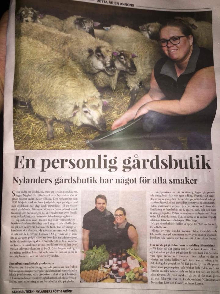 Reportage ur Landskrona Lokaltidning